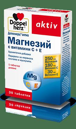 Допелхерц (Doppelherz) Магнезий, Витамин С и Витамин Е таблетки x30